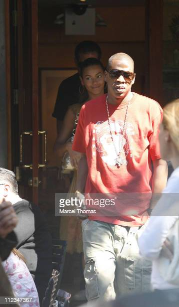 Beyonce Knowles and JayZ during Beyonce Knowles and JayZ Sighting at Bar Pitti Resturant in SOHO June 11 2006 at Bar Pitti in New York City New York...