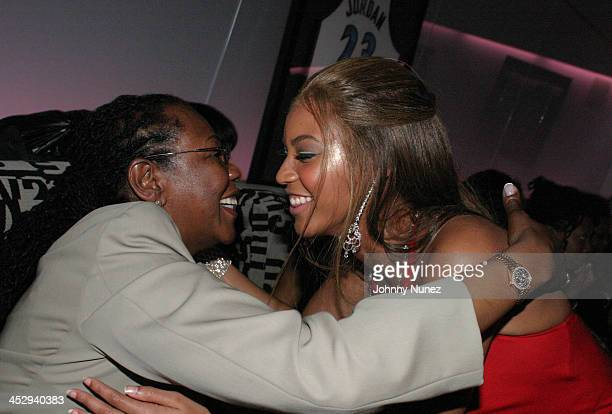 Beyonce Knowles and JayZ's Mother during The Launch of Jay Z's 40/40 Club Inside Party at 40/40 Sports Bar in New York City New York United States
