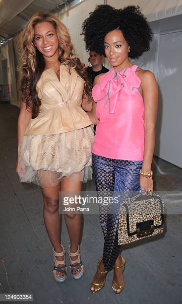 Beyonce Knowles and Solange Knowles are seen around Lincoln Center during Spring 2012 MercedesBenz Fashion Week on September 13 2011 in New York City