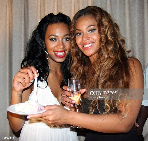 Beyonce Knowles and Solange Knowles attend Solange Knowles 21st Birthday Party Generations Hall July 6 2007 New Orleans LA