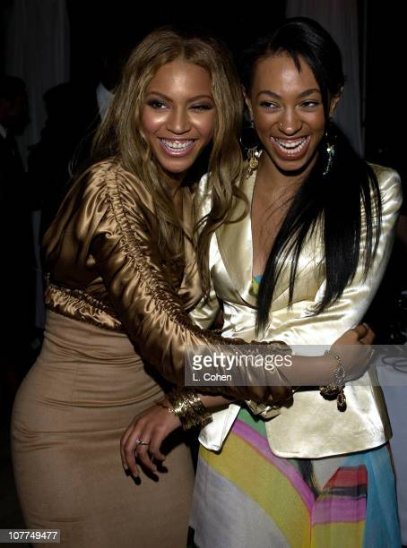 Beyonce Knowles and Solange Knowles during Beyonce Celebrates The Release of Her New Album 'Dangerouslyinlove' at The Skybar in West Hollywood...