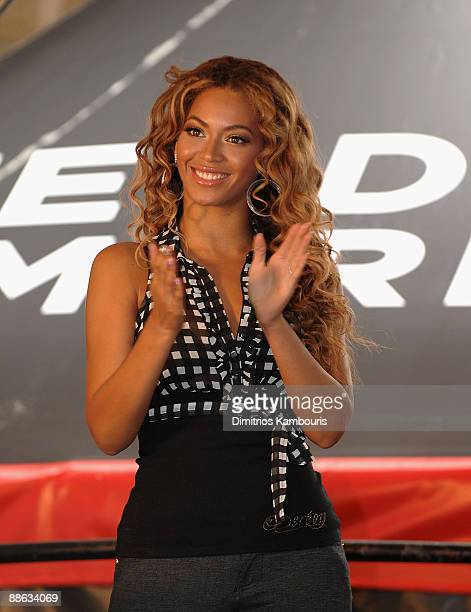Beyonce Knowles announces The Feeding America Show Your Helping Hand Campaign at Madison Square Garden on June 22 2009 in New York City