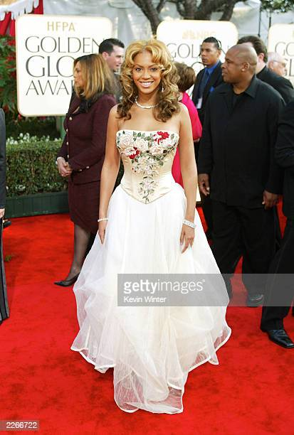 Beyonce Knowles arrives at the 60th ANNUAL GOLDEN GLOBE AWARDS at Beverly Hilton Hotel in Beverly Hills Ca Sunday Jan 19 2003 Photo by Kevin...