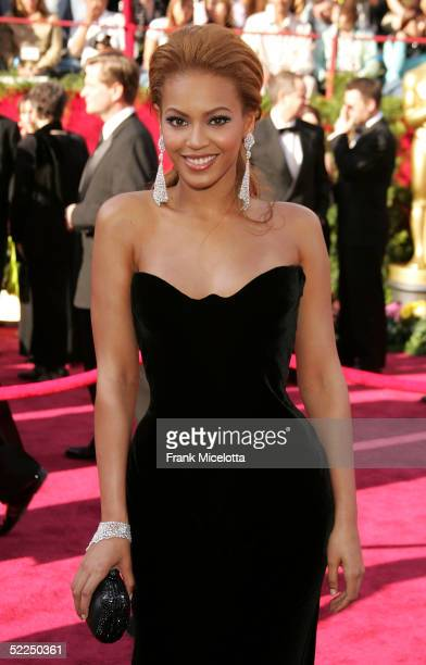 Beyonce Knowles arrives at the 77th Annual Academy Awards at the Kodak Theater on February 27 2005 in Hollywood California