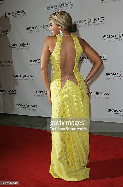 Beyonce Knowles arrives at the Sony/BMG Grammy After Party at the Beverly Hills Hotel on February 10 2008 in Beverly Hills California