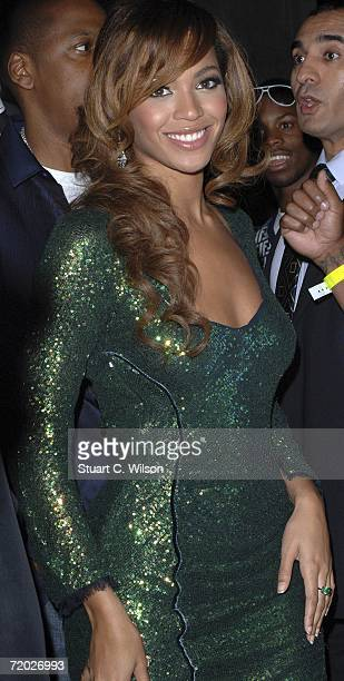 Beyonce Knowles arrives for the Jay Z aftershow party at Movida on September 27 2006 in London England