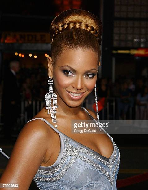 Beyonce Knowles at the Mann's Chinese Theatre in Hollywood California