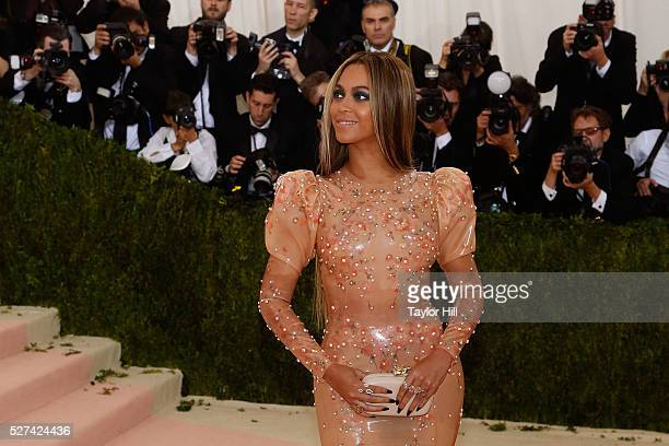 Beyonce Knowles attends 'Manus x Machina Fashion in an Age of Technology' the 2016 Costume Institute Gala at the Metropolitan Museum of Art on May 02...