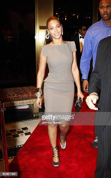 Beyonce Knowles attends the 2008 New Yorkers for Children Gala at Cipriani's 42nd Street on September 16 2008 in New York City New York