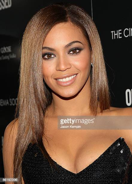 Beyonce Knowles attends the Cinema Society and MCM screening of 'Obsessed' at the School of Visual Arts on April 23 2009 in New York City
