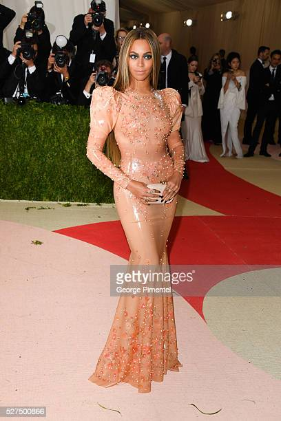 Beyonce Knowles attends the 'Manus x Machina Fashion in an Age of Technology' Costume Institute Gala at the Metropolitan Museum of Art on May 2 2016...