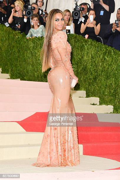 Beyonce Knowles attends the 'Manus x Machina: Fashion in an Age of Technology' Costume Institute Gala at the Metropolitan Museum of Art on May 2,...