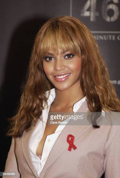 Beyonce Knowles attends the Nelson Mandela Foundation 46664 Photocall at The Arabella Sheraton Hotel on November 29 2003 in Cape Town