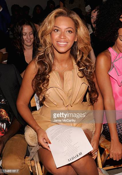 Beyonce Knowles attends the Rodarte Spring 2012 fashion show during Mercedes-Benz Fashion Week at on September 13, 2011 in New York City.