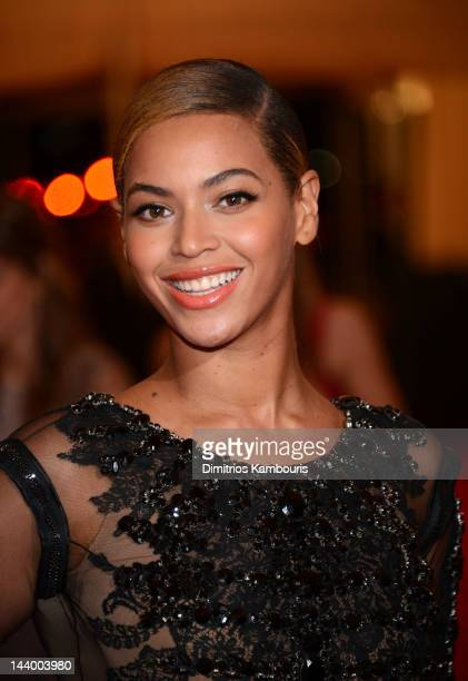 Beyonce Knowles attends the 'Schiaparelli And Prada Impossible Conversations' Costume Institute Gala at the Metropolitan Museum of Art on May 7 2012...