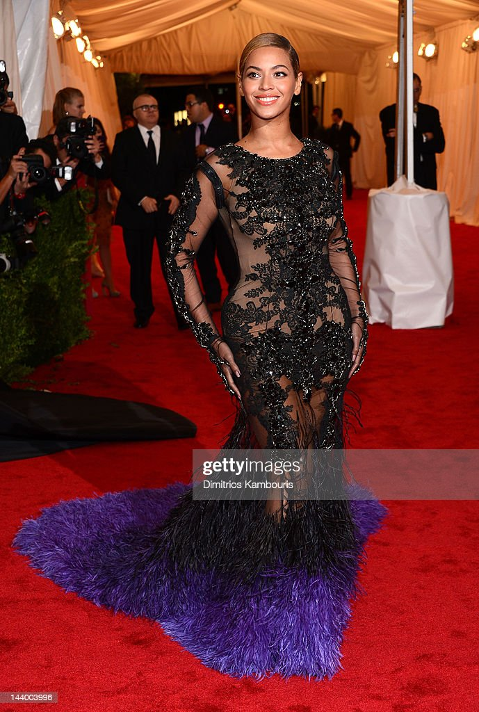 Beyonce Knowles attends the 'Schiaparelli And Prada: Impossible Conversations' Costume Institute Gala at the Metropolitan Museum of Art on May 7, 2012 in New York City.