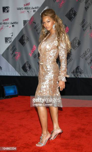 Beyonce Knowles during 2003 MTV Video Music Awards Arrivals at Radio City Music Hall in New York City New York United States