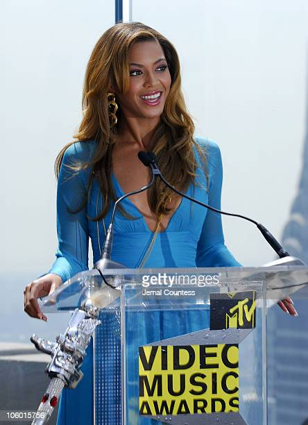 Beyonce Knowles during 2006 MTV Video Music Awards Nomination Announcement at Top of the Rock Rockefeller Center in New York City New York United...