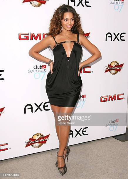 Beyonce Knowles during 2007 Sports Illustrated Swimsuit Issue Party Arrivals at Pacific Design Center in Los Angeles California United States