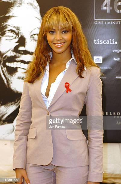 Beyonce Knowles during 46664 Give 1 Minute Of Your Life To AIDS Concert Press Room at Greenpoint Stadium in Cape Town Western Cape South Africa