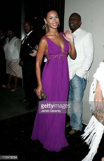 Beyonce Knowles during Antonio 'LA' Reid's 50th Birthday Party Arrivals at Nobu 57 in New York City New York United States