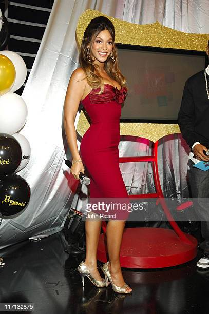 Beyonce Knowles during Beyonce Celebrates her Birthday at BET's 106 and Park September 5 2006 in New York City United States