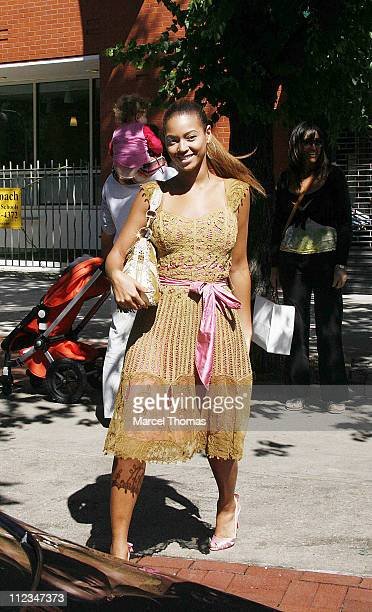 Beyonce Knowles during Beyonce Knowles and JayZ Sighting at Bar Pitti Resturant in SOHO June 11 2006 at Bar Pitti in New York City New York United...