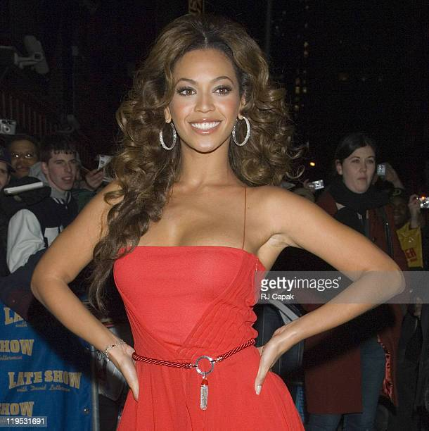 Beyonce Knowles during Beyonce Knowles and Marv Albert Visit The Late Show With David Letterman December 19 2006 at Ed Sullivan Theatre in New York...