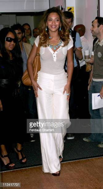 Beyonce Knowles during Beyonce Knowles Arrives for Appearance on Radio One Breakfast Show August 15 2006 at Radio One in London Great Britain