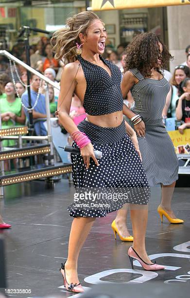 Beyonce Knowles during Beyonce Knowles Performs on The Today Show Summer Concert Series June 27 2003 at NBC Studios Rockefeller Center in New York...