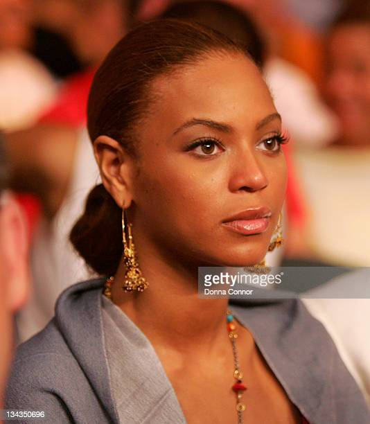 Beyonce Knowles during Celebs Ringside at Floyd Mayweather vs Arturo Gatti WBC Lightweight Title Fight June 25 2005 at Atlantic City Boardwalk Hall...