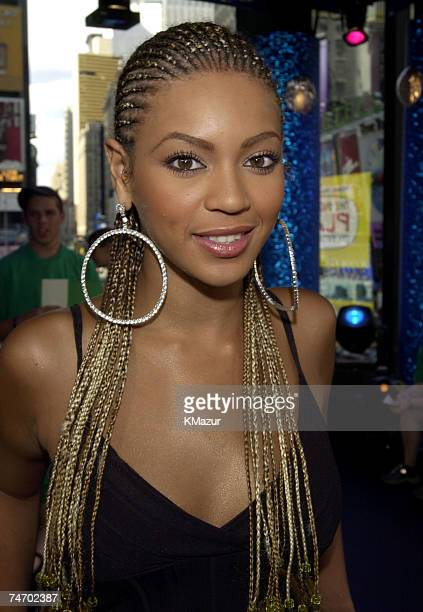 Beyonce Knowles during MTV's TRL Tour July 12 2001 at the MTV Studios in New York New York