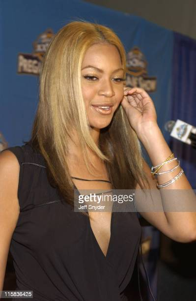 Beyonce Knowles during Super Bowl XXXVII Pre-Game Entertainment Press Connference at Qualcomm Stadium in San Diego, CA, United States.