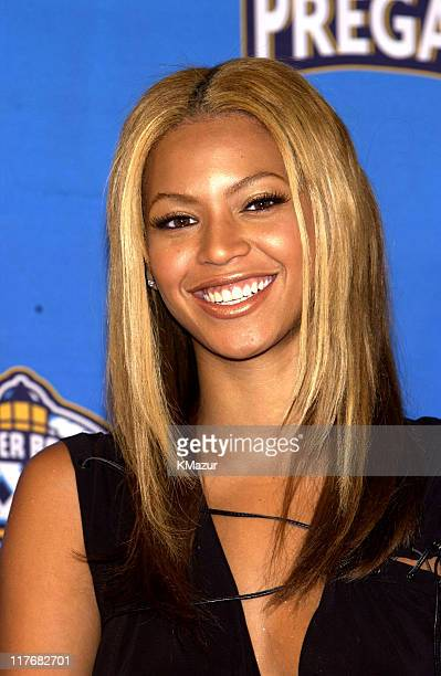 Beyonce Knowles during Super Bowl XXXVII PreGame Show Press Conference at Qualcomm Stadium in San Diego California United States