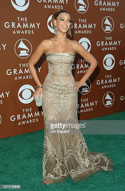 Beyonce Knowles during The 48th Annual GRAMMY Awards Arrivals at Staples Center in Los Angeles California United States