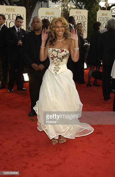 Beyonce Knowles during The 60th Annual Golden Globe Awards Arrivals at The Beverly Hilton Hotel in Beverly Hills California United States