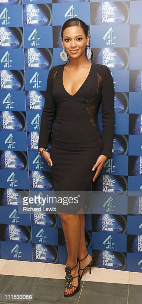 Beyonce Knowles during UK Music Hall Of Fame 2006 Press Room at Alexandra Palace in London Great Britain