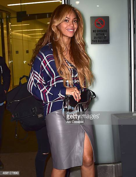Beyonce Knowles is seen in Midtown on October 30 2014 in New York City