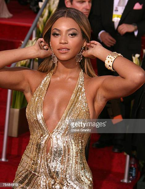 Beyonce Knowles nominee Best Performance by an Actress in a Motion Picture Comedy or Musical for Dreamgirls at the Beverly Hilton in Beverly Hills CA