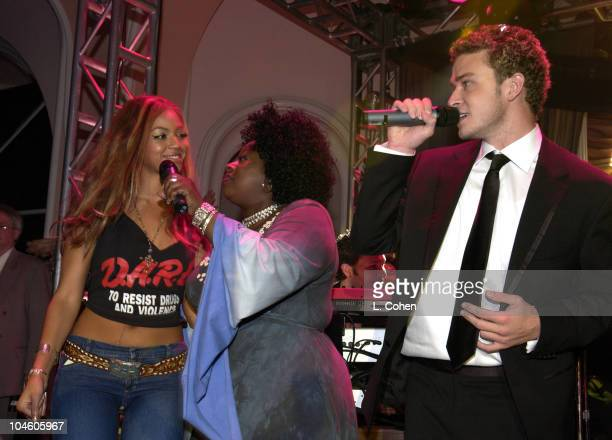 Beyonce Knowles of Destiny's Child Angie Stone and Justin Timberlake of 'N Sync