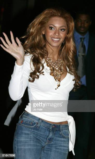 Beyonce Knowles of Destiny's Child arrives at the Destiny's Child Album Launch Party at The Penthouse, No.1 Leicester Square November 2, 2004 in...