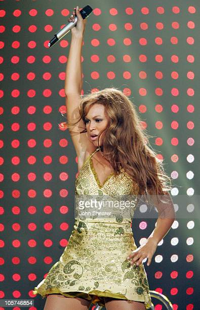 Beyonce Knowles of Destiny's Child during Destiny's Child Destiny Fulfilled Tour in Los Angeles September 2 2005 at Staples Center in Los Angeles...