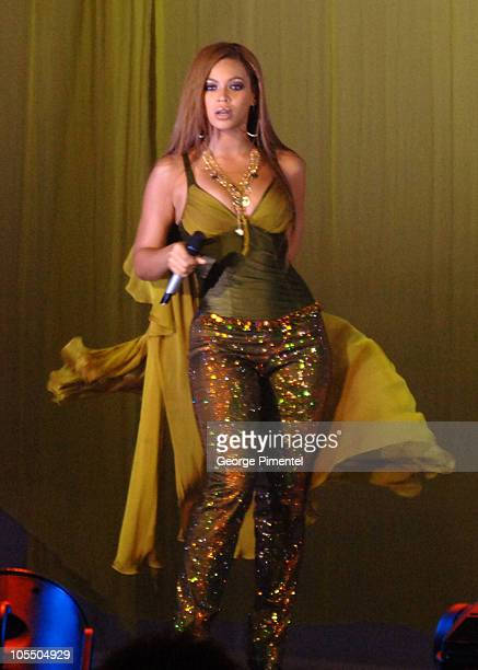 Beyonce Knowles of Destiny's Child during Destiny's Child in Concert at the Air Canada Centre in Toronto August 10 2005 at Air Canada Centre in...