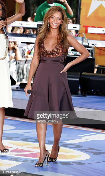 Beyonce Knowles of Destiny's Child during Destiny's Child Performs on the 2005 NBC's 'The Today Show' Summer Concert Series at NBC Studios...