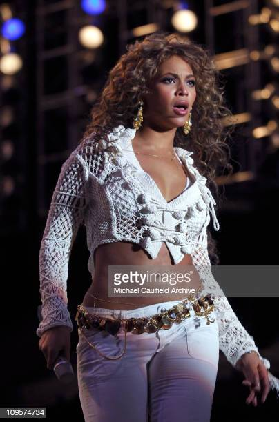 Beyonce Knowles of Destiny's Child during Rockin' the Corps Concert An American Thank You Celebration for US Marines Show at Camp Pendleton in San...
