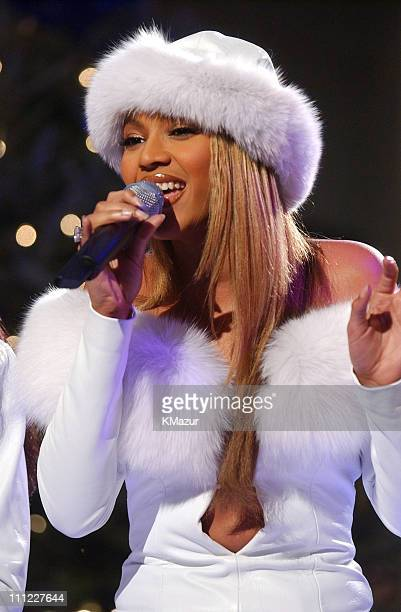 Beyonce Knowles of Destiny's Child during The 69th Annual Rockefeller Center Christmas Tree Lighting in New York City at Rockefeller Center in New...