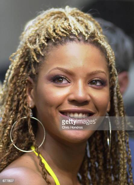 Beyonce Knowles of the group Destiny's Child appears on the NBC Today show May 11 2001 in Rockefeller Center in New York