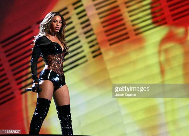 Beyonce Knowles performing 'Ring the Alarm' during 2006 MTV Video Music Awards MTVcom Show at Radio City Music Hall in New York City New York United...