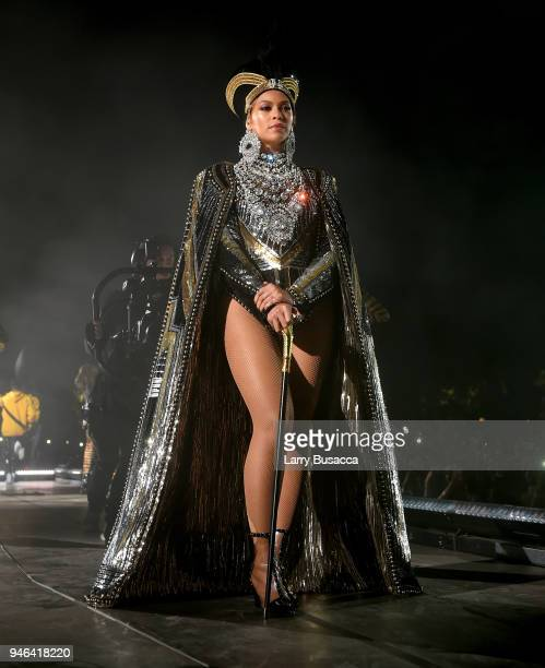 Beyonce Knowles performs onstage during 2018 Coachella Valley Music And Arts Festival Weekend 1 at the Empire Polo Field on April 14, 2018 in Indio,...