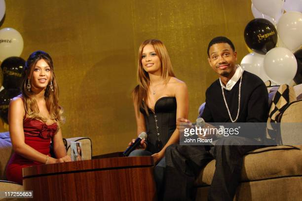 Beyonce Knowles Rocsi Terrence J during Beyonce Celebrates her Birthday at BET's 106 and Park September 5 2006 in New York City United States